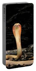 Albino Monocled Cobra Naja Naja Portable Battery Charger