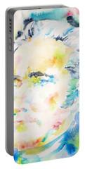 Alexander Hamilton - Watercolor Portrait Portable Battery Charger