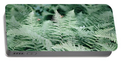 Portable Battery Charger featuring the photograph Algonquin Ferns by David Porteus