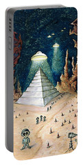Alien Invasion - Space Art Painting Portable Battery Charger