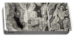 Alien Triptych Landscape Bw Portable Battery Charger