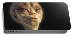 Alien Yearbook Photo Portable Battery Charger