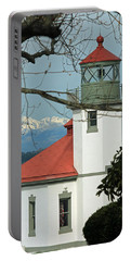 Portable Battery Charger featuring the photograph Alki Lighthouse II by E Faithe Lester