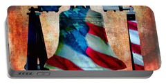 Liberty Bell Art Smooth All American Series Portable Battery Charger
