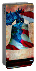 Liberty Bell Art Smooth All American Series Portable Battery Charger by Lesa Fine