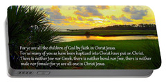 All One In Christ Jesus Portable Battery Charger