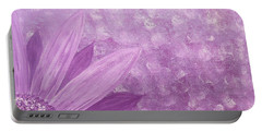 All Purple Flower Portable Battery Charger