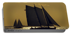 All Sails Sunset In Key West Portable Battery Charger