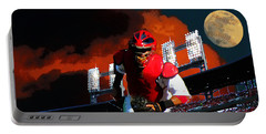 Portable Battery Charger featuring the photograph All Star Yadier Molina by John Freidenberg