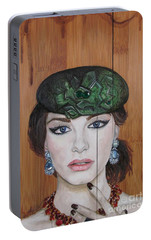 Portable Battery Charger featuring the painting All That Girls Love 2 by Malinda  Prudhomme