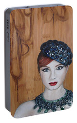 Portable Battery Charger featuring the painting All That Girls Love 3 by Malinda  Prudhomme