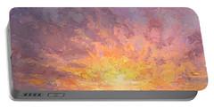 Impressionistic Sunrise Landscape Painting Portable Battery Charger