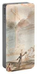 Allegory   Knowledge Versus Orthodox Religion Portable Battery Charger by Auguste Hervieu