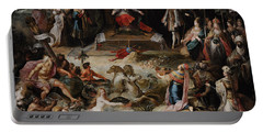Allegory Of The Abdication Of Emperor Charles V In Brussels, C.1630-1640, By Frans Francken Portable Battery Charger