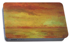 Portable Battery Charger featuring the painting Allegro by Mary Wolf