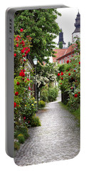 Alley Of Roses Portable Battery Charger