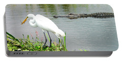 Alligator Egret And Shrimp Portable Battery Charger