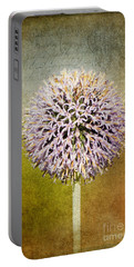 Allium Flower Portable Battery Charger
