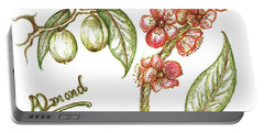 Almond With Flowers Portable Battery Charger