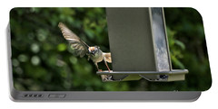 Portable Battery Charger featuring the photograph Almost A Ruff Bird Landing by Thomas Woolworth