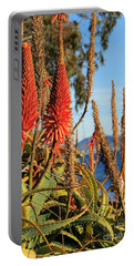 Aloe Vera Bloom Portable Battery Charger by Mariola Bitner