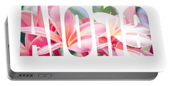 Aloha Tropical Plumeria Typography Portable Battery Charger
