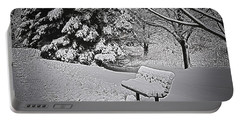Portable Battery Charger featuring the photograph Alone In The Park.... by Deborah Klubertanz