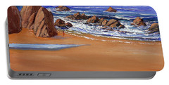Alone On The Beach Portable Battery Charger by Frank Wilson