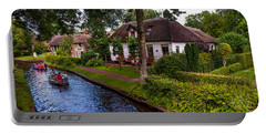 Along The Canal. Giethoorn. Netherland Portable Battery Charger