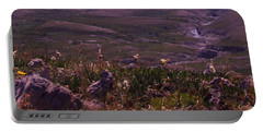 Portable Battery Charger featuring the photograph Alpine Floral Meadow by Marianne NANA Betts