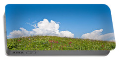 Alpine Meadow And Cloud Formation Portable Battery Charger