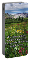 Portable Battery Charger featuring the photograph Alpine Meadow by Priscilla Burgers