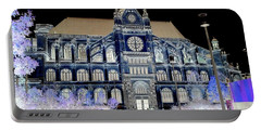 Altered Image Of Saint Eustache In Paris France Portable Battery Charger by Richard Rosenshein
