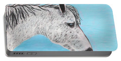Portable Battery Charger featuring the painting Alvaro Stallion by Jeanne Fischer