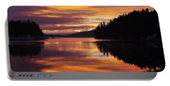 Amalga Harbor Sunset Portable Battery Charger by Cathy Mahnke
