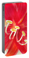 Amaryllis Flower Portable Battery Charger