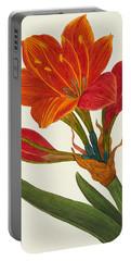 Amaryllis Purpurea Portable Battery Charger