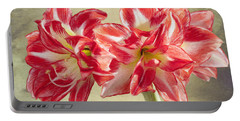 Amaryllis Red Portable Battery Charger