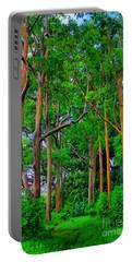 Amazing Rainbow Eucalyptus Portable Battery Charger by DJ Florek