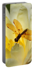 Amber Dragonfly Dancer Portable Battery Charger
