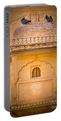 Amber Fort Birdhouse Portable Battery Charger by Inge Johnsson