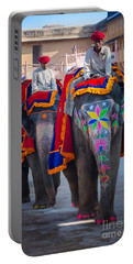 Amber Fort Elephants Portable Battery Charger