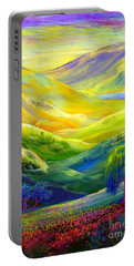 Wildflower Meadows, Amber Skies Portable Battery Charger