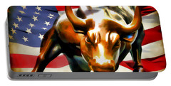 America Taking Charge Portable Battery Charger by Athena Mckinzie