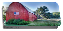 Portable Battery Charger featuring the photograph American Barn by Sebastian Musial