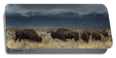 American Bison On The Prairie Portable Battery Charger
