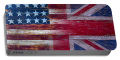 American British Flag 2 Portable Battery Charger