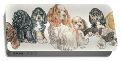 American Cocker Spaniel Puppies Portable Battery Charger