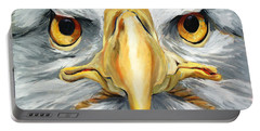 American Eagle - Bald Eagle By Betty Cummings Portable Battery Charger by Sharon Cummings