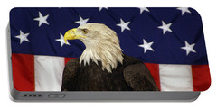 American Eagle And Flag Portable Battery Charger